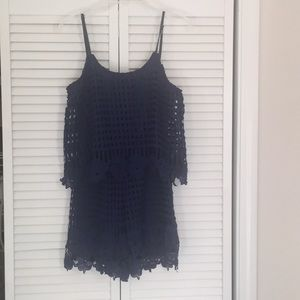 Alya navy lace romper - sz M